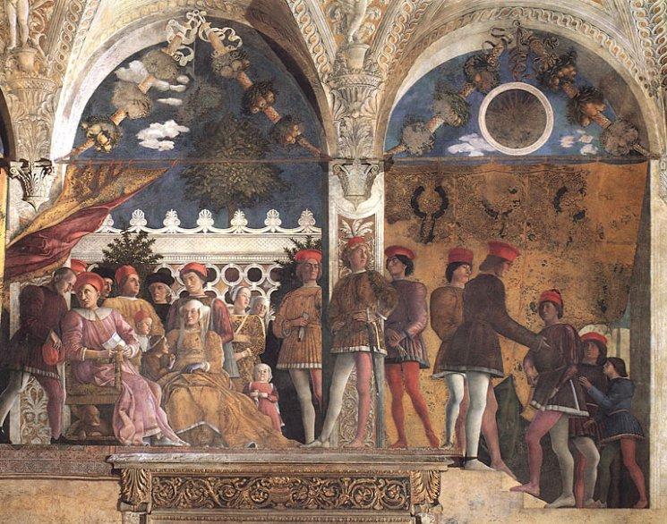 Mantegna, ducal family in Camera degli Sposi, Palazzo Ducale, Mantua