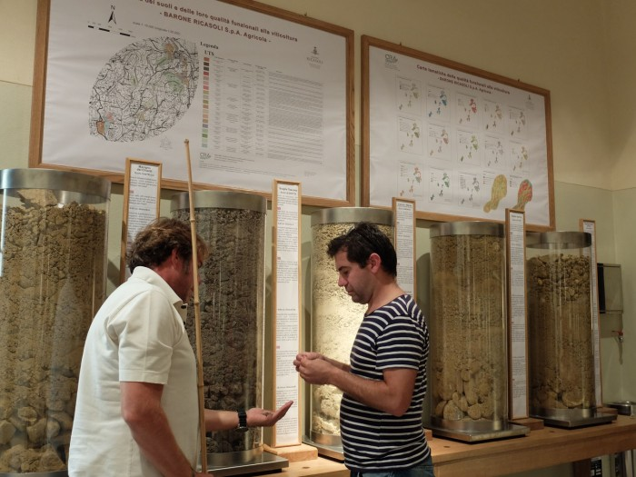 Results of the earth study displayed for visitors