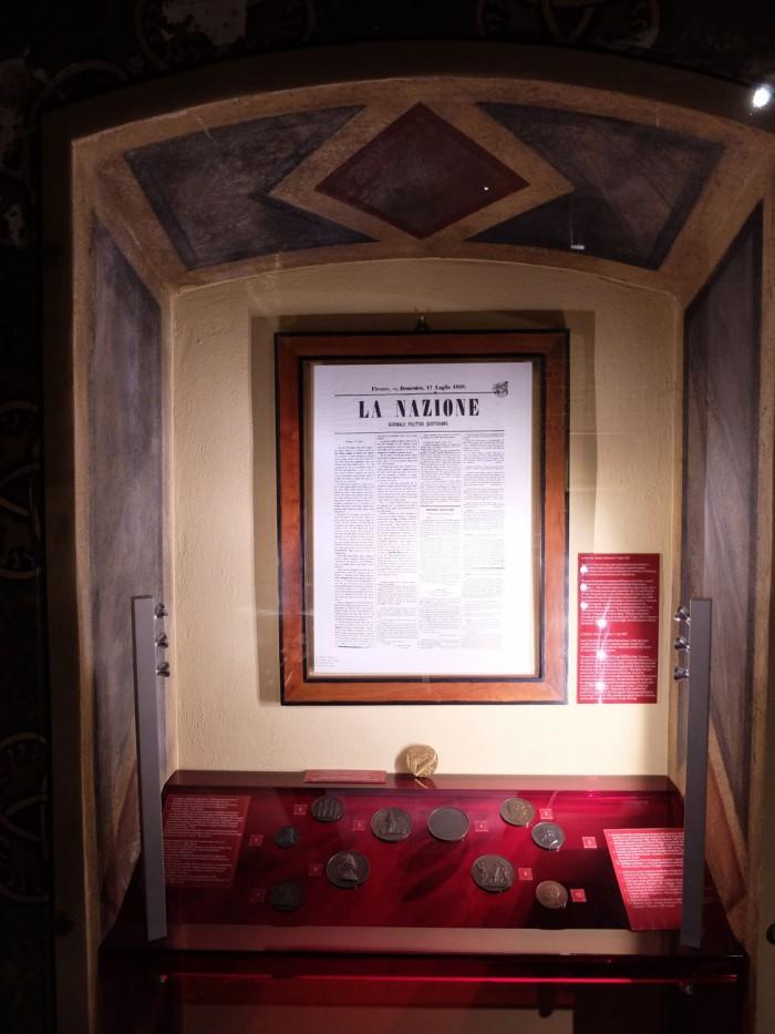 The first edition of the La Nazione newspaper