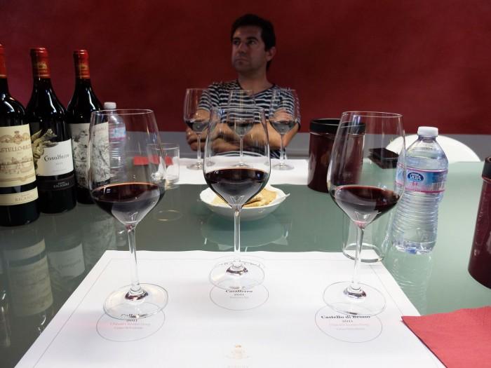 Formal private gran cru wine tasting