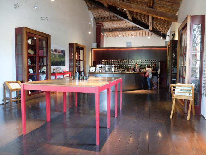 The enoteca or wine shop