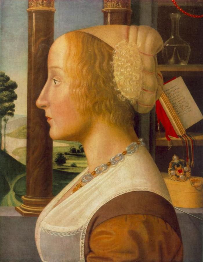 Bastiano Mainardi, portrait of a woman (engagement portrait)