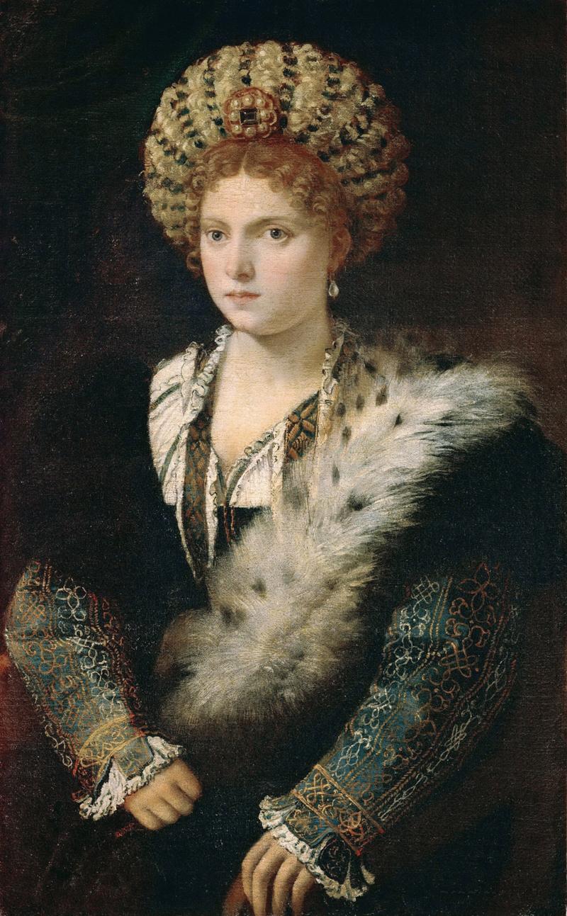 Titian, Isabella d'Este (idealized portrait)