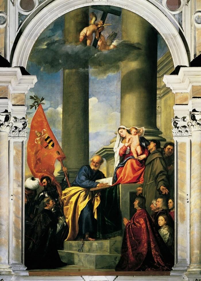 Titian's Pesaro Madonna. Photo by juanlumen1