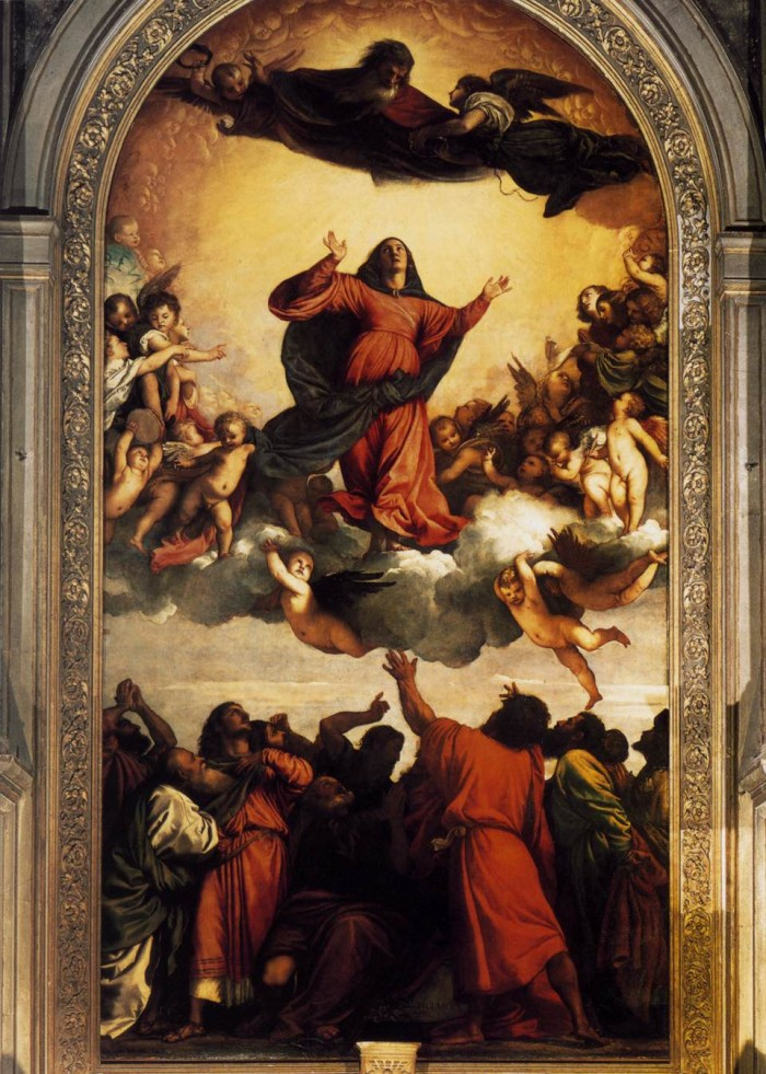 Titian's Assumption of the Virgin. Photo by wga.hu