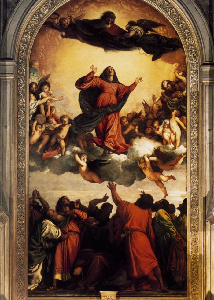 Titian's Assumption of the Virgin. Photo by wga.hu