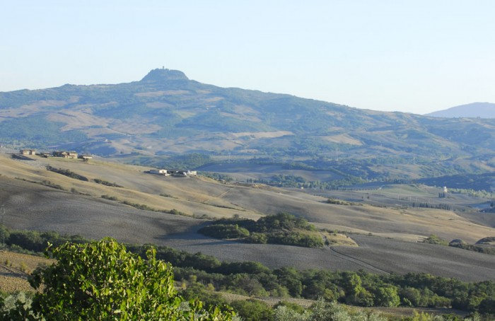 View of the countryside around La Foce - a UNESCO world heritage area
