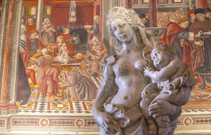 Copy of Acca Larentia & detail of the Sala del Pelegrinaggio fresco