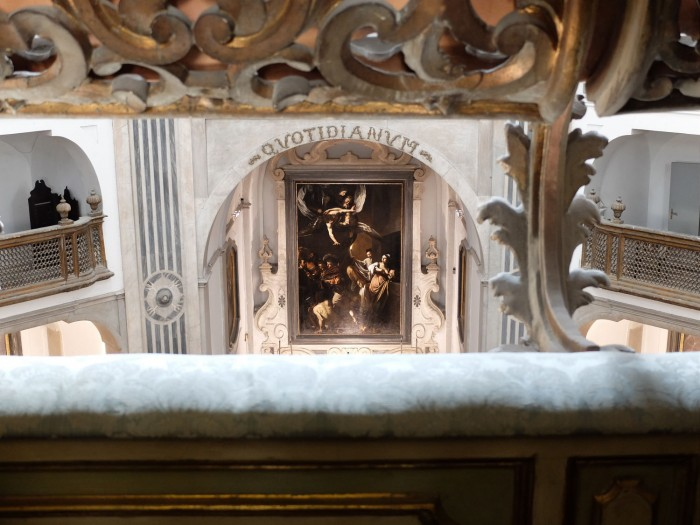 Caravaggio, The Seven Works of Mercy at the Pio Monte della Misericordia (seen from the private interior balcony of the church)