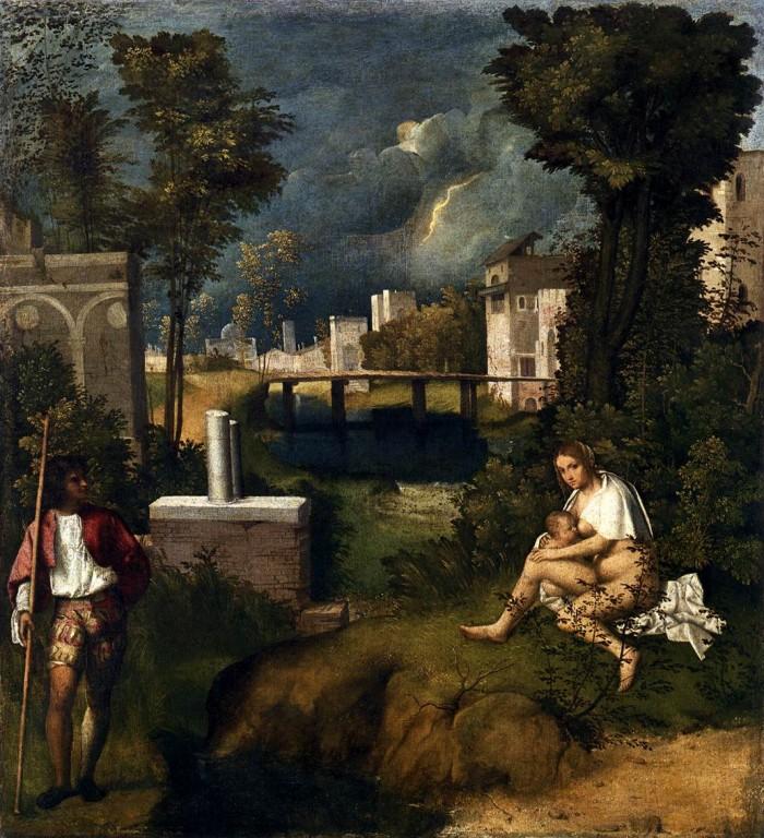 Giorgione's The Tempest. Photo by wga.hu