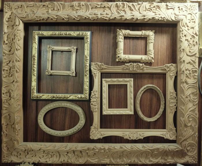Frames on wood panel!