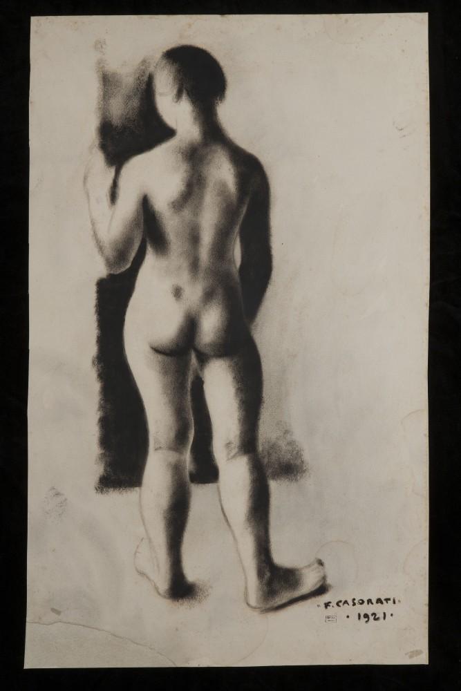 Felice Casorati, Nudo di donna di schiena, 1921. Accademia di Belle Arti di Firenze