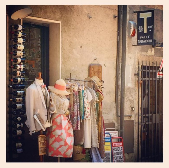 Alberta Florence summer line at a boutique in Bolgheri (Tuscany)