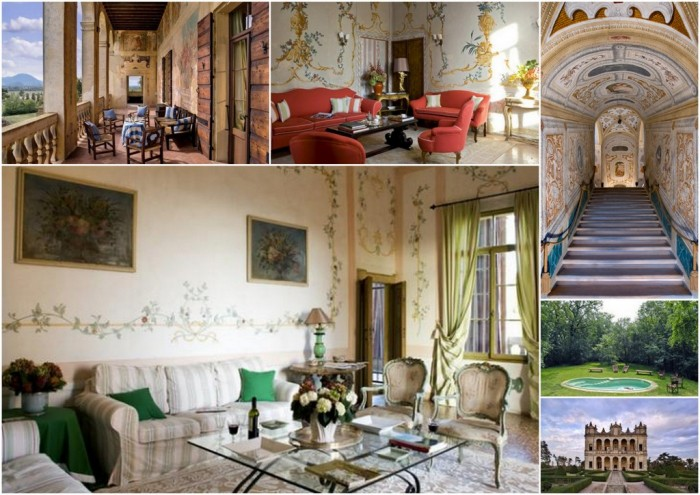 Some of the exclusive spaces in Villa Capodilista
