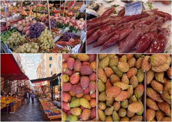 Some of the goods at the Mercato del Capo