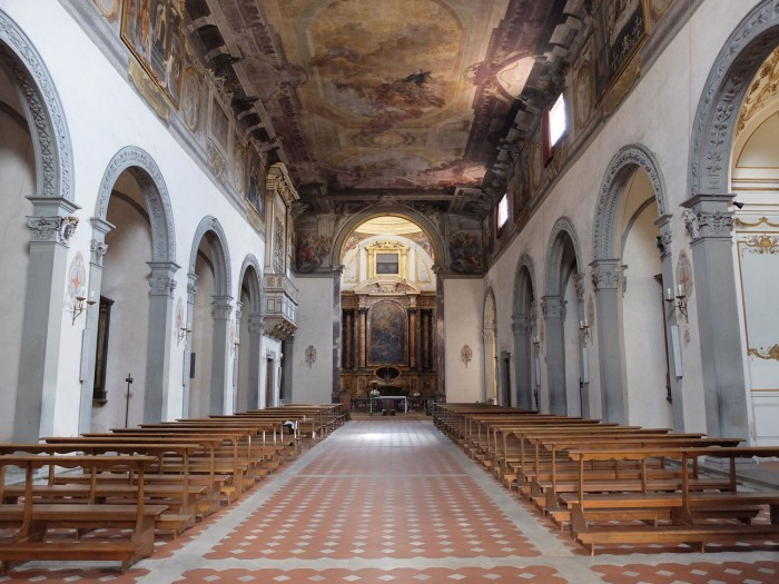 The Baroque interior of this (empty) church, SMM dei Pazzi in Florence