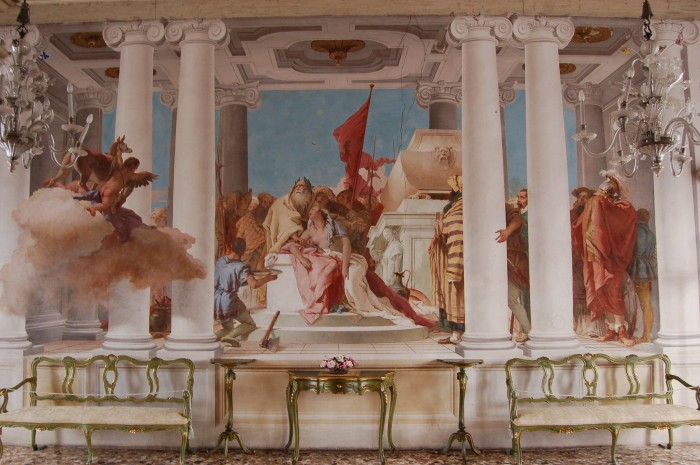 Doesn't this fresco look like it could be in a Ducal palace? It's GB Tiepolo in Villa Valmarana!
