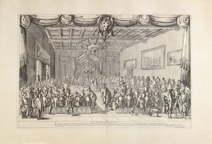 Stefano della Bella, Banquet in Palazzo Pitti