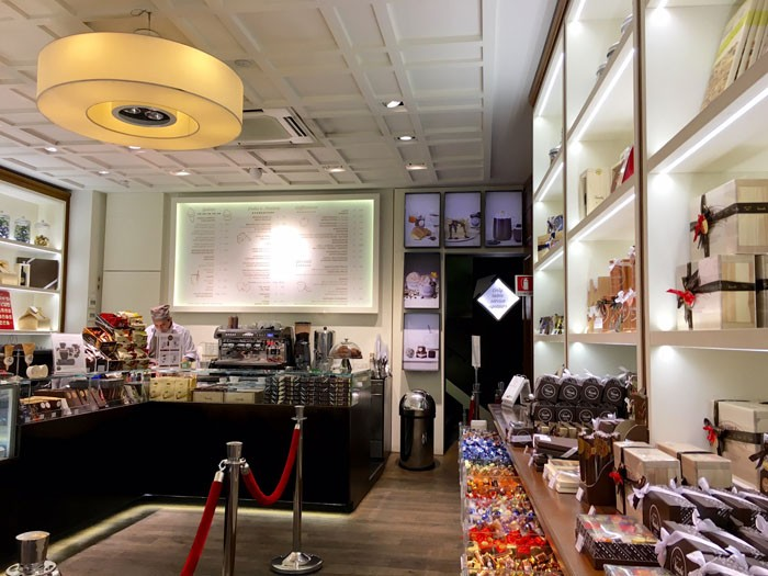 Venchi's Florence shop - the original is in Torino and was established in the late 19th century