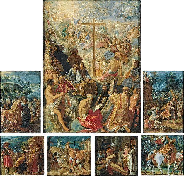 Adam Elsheimer, Tabernacolo della Croce Santa, olio su rame, Francoforte, Städelscher Museums-Verein