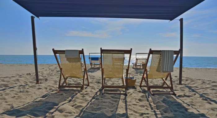 The beach at Palone Nuovo. Picture yourself here - reading a book, of course.