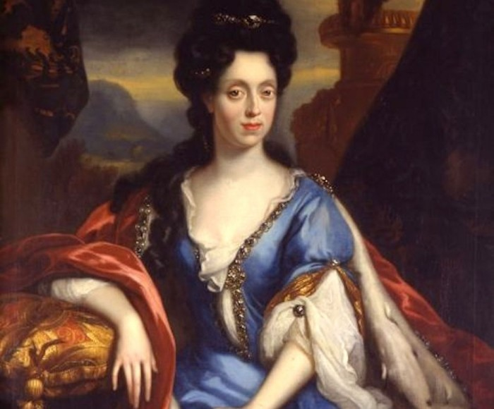 Anna Maria Luisa de' Medici painted by Jan van Douven (we can thank her for Florence's museums)