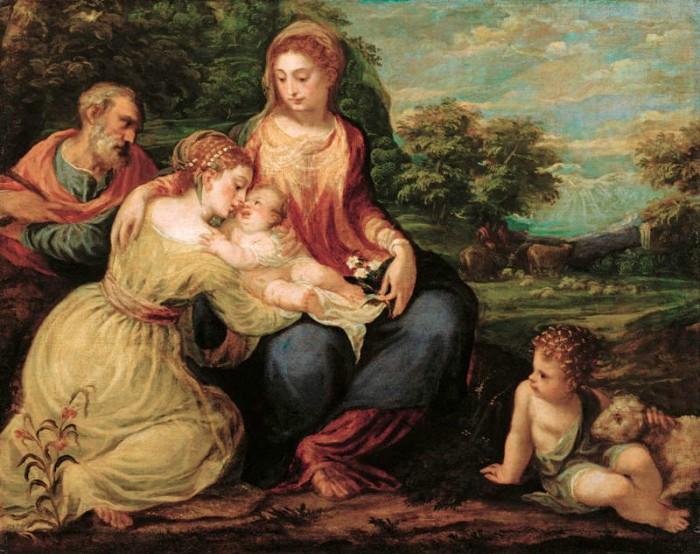 Andrea Schiavone, Mystic Marriage of St. Catherine (Vienna, Kunst)