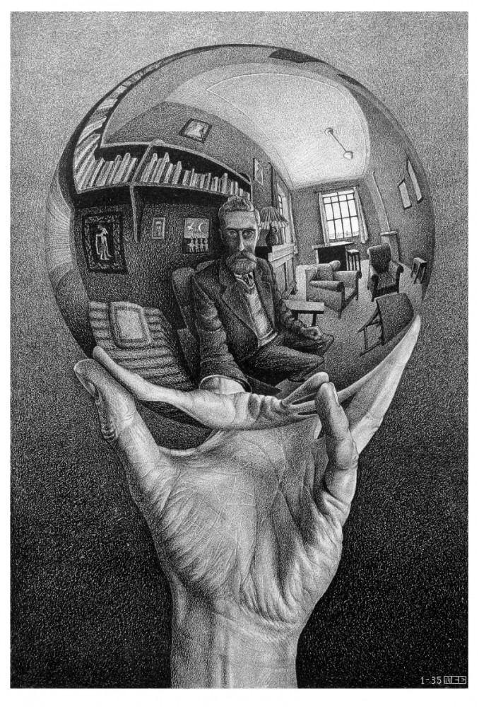 Escher, hand with sphere