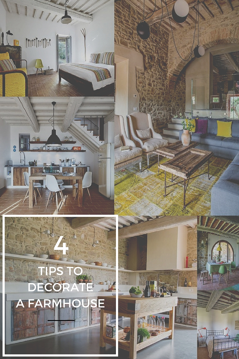 Decorate a farmhouse in Tuscany or Umbria