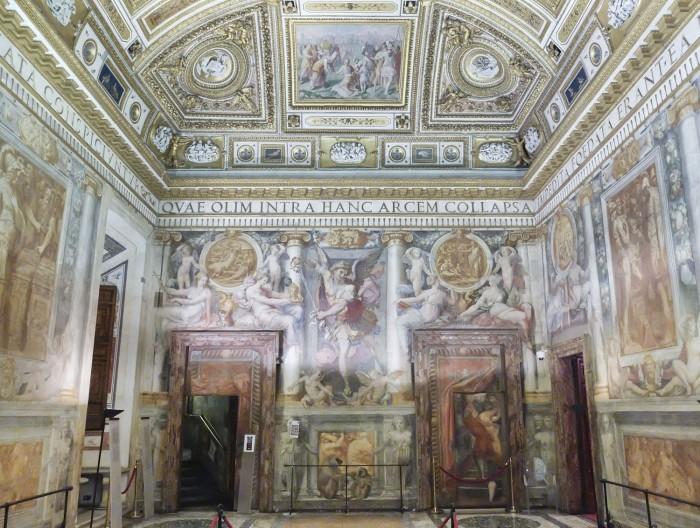 Frescoed room by Perino del Vaga, 1540s