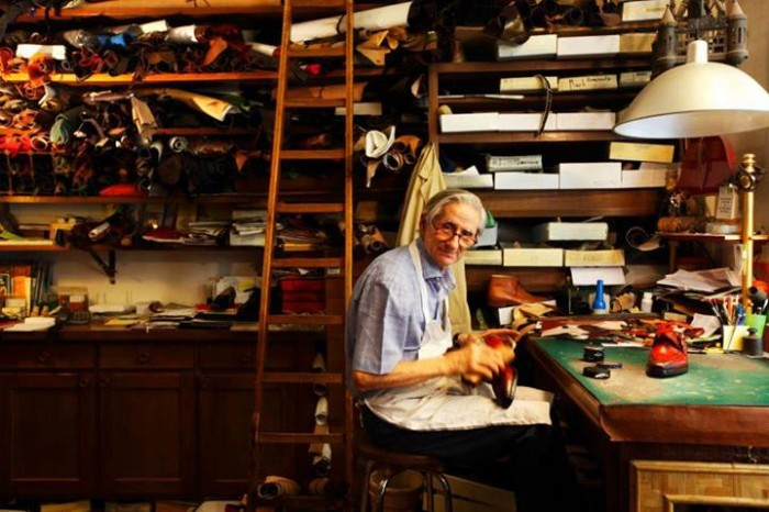 Calogero in his workshop