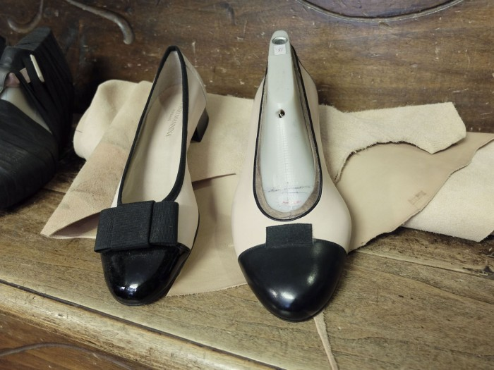 Ballerinas for tricky feet - the custom shoe on the right is not finished yet