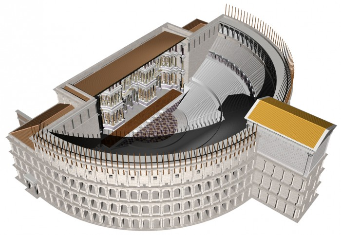 3D reconstruction of the Theatre of Pompey by Burge and Packer (click for link)