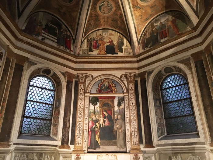 One of the two chapels painted by Pinturicchio at Santa maria del Popolo