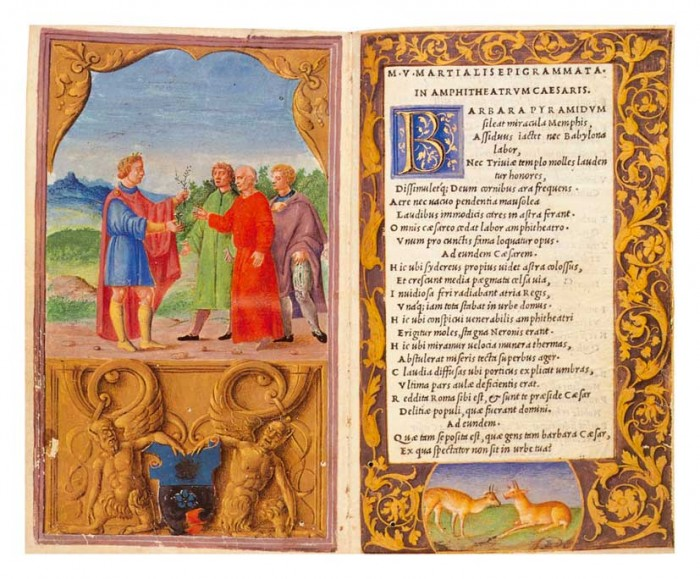 An illuminated printed book by Benedetto Bordon   Credit - click for link