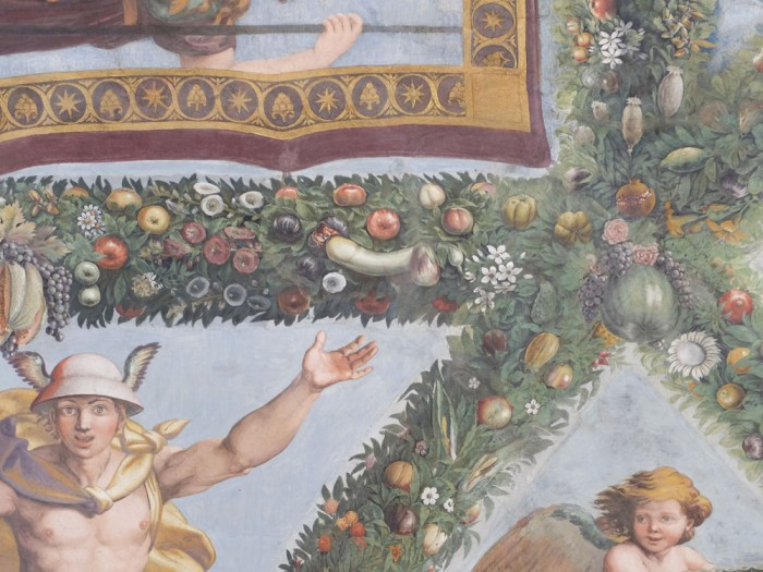 Rude details in the fresco's margins