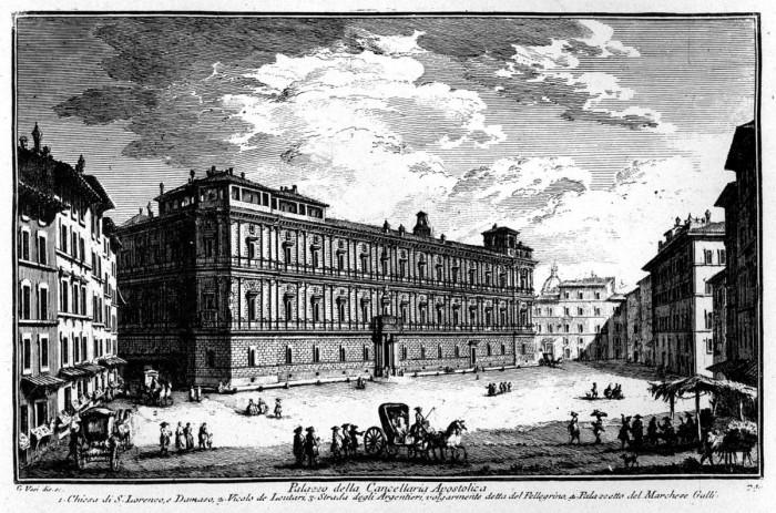 Palazzo della Cancelleria in the 18th century | Wikipedia