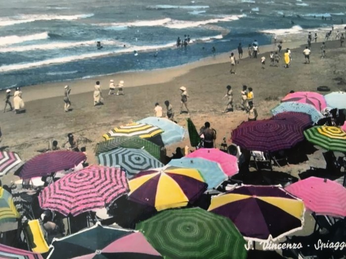 Postcard of San Vincenzo in the 1950s