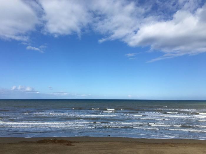 San Vincenzo's sandy beach (one of a few)