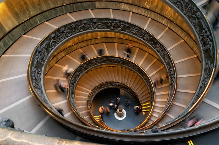 Vatican Museum spiral staircase | Photo B.B. Wijdieks creative commons on Flickr