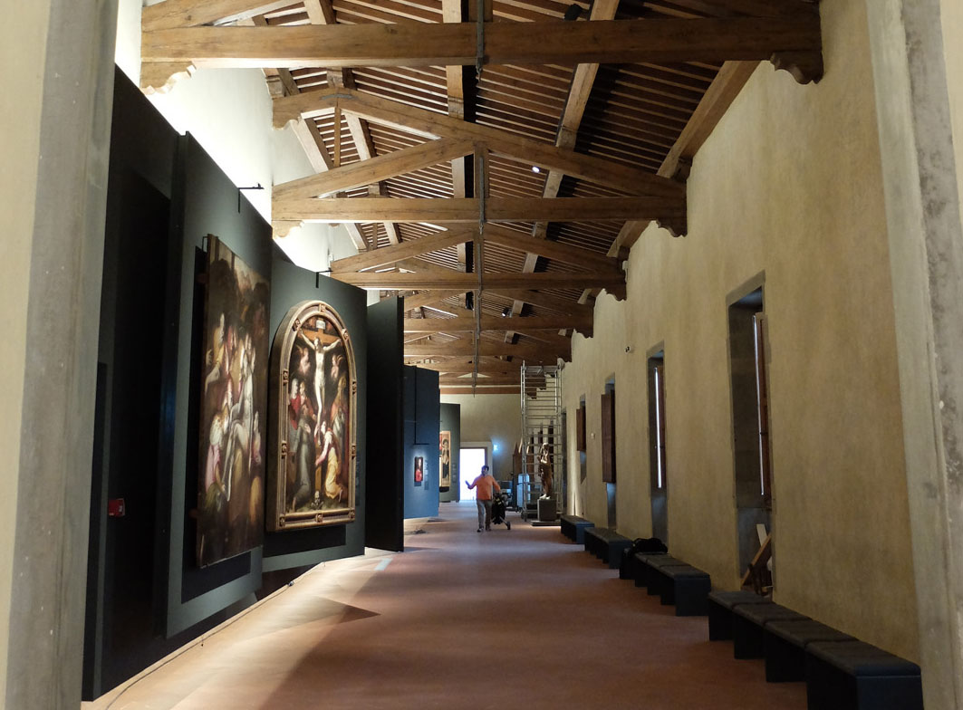 The painting gallery at the Innocenti Museum