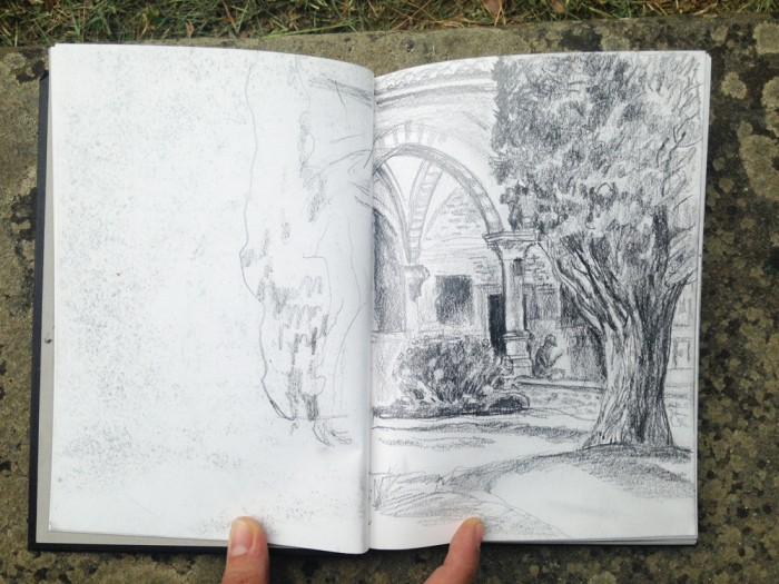 Drawing in Florence student Patricia Kehler's sketchbook