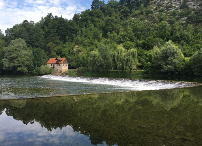 One of the most picturesque bends of the Kolpa River in the Nature Park