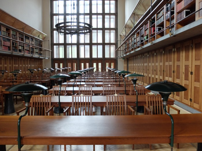 The reading room of the National University Library
