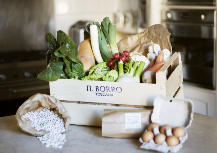 Bio Box options in Florence - this is the Winter selection from Il Borro