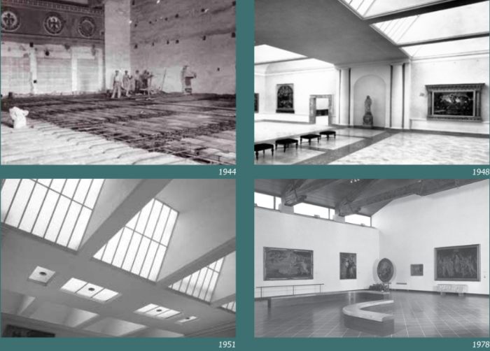 Past versions of the Botticelli room from a pamphlet provided by the museum