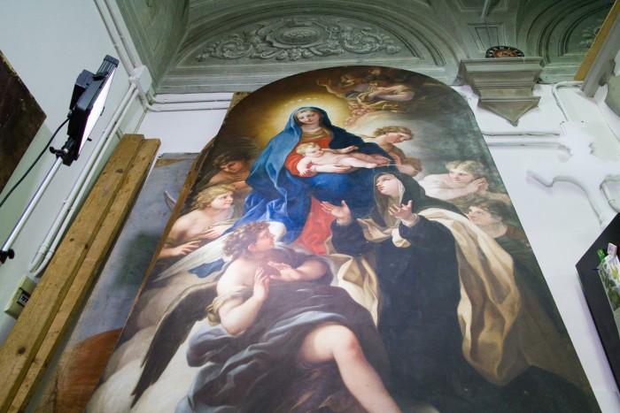 The restored work