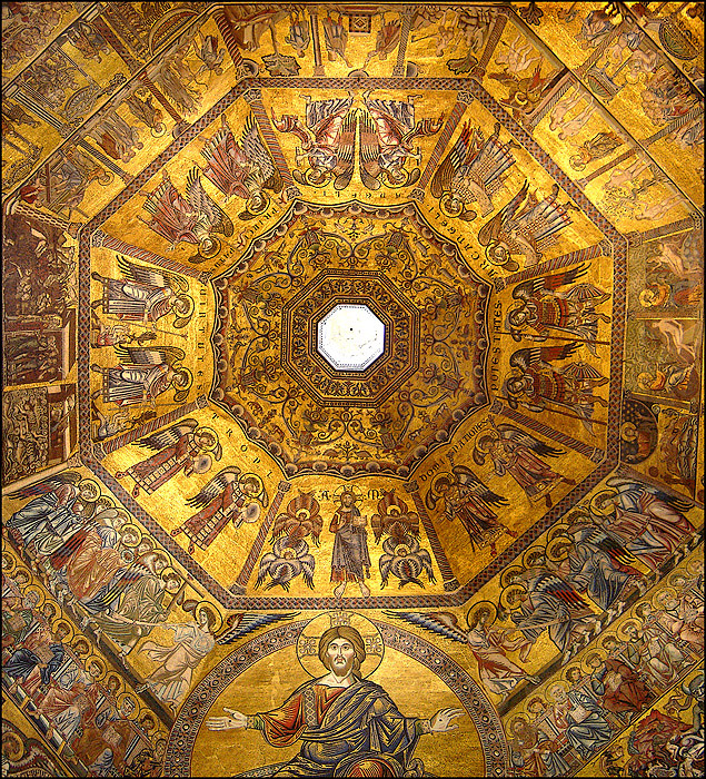 Florence Baptistry, Mosaic dome | Photo wikipedia by Ricardo André Frantz