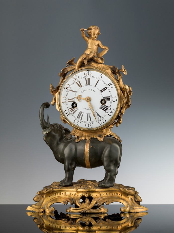 An 18th-century clock in the show