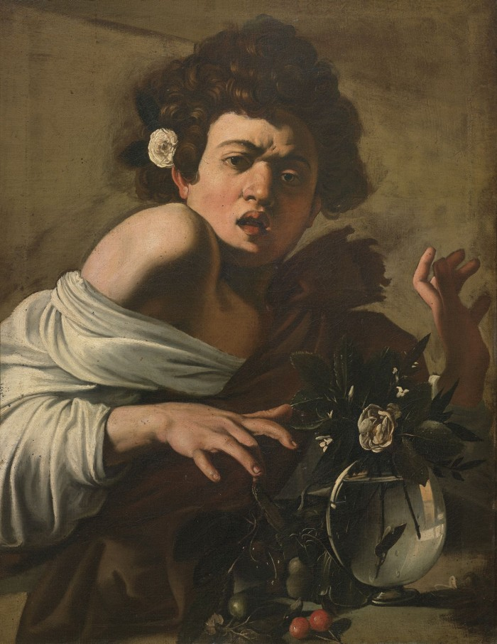 Caravaggio, Boy Bitten by a snake, 1595-1596 circa, Florence, Longhi Foundation